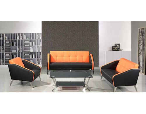 Y&F Modern Office Sofa with PU and leather Fabric, stainless steel base and frame (SF-852)