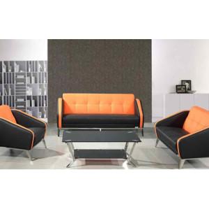 Sofá de oficina moderno Y&F con tela de PU y cuero, base y marco de acero inoxidable (SF-852)