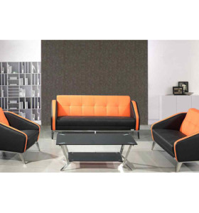 Modern Office Sofas with PU and leather Fabric, stainless steel base and frame (SF-852)