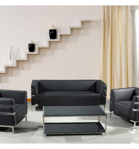 Wholesale Modern PU/Leather Office Sofas, stainless steel base and frame (SF-898)