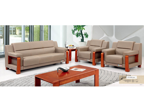 Y&F PU/Leather Office Sofa, plywood base, 100% pure sponge (SF-6096)