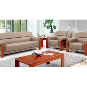 Sofá de oficina de cuero y PU Y&F, base de madera contrachapada, esponja 100% pura (SF-6096)