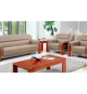 Canapé de bureau en cuir / PU Y&F, base en contreplaqué, éponge 100% pure (SF-6096)