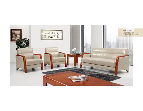 Y&F PU/Leather Office Sofa, 100% pure sponge, plywood base (SF-6093)