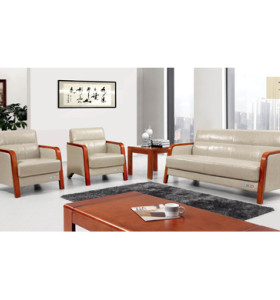 Y&F PU / Leather Office Sofa, éponge 100% pure, base en contreplaqué (SF-6093)