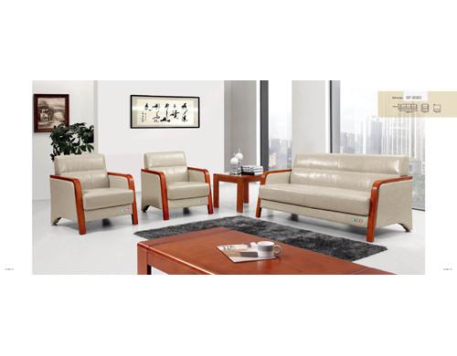 Sofá de oficina de cuero y PU Y&F, esponja 100% pura, base de madera contrachapada (SF-6093)