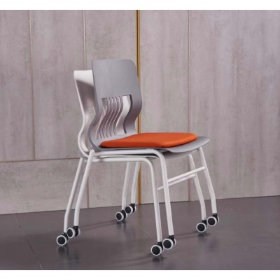 Y&F Modern Office Stacking Training Chair With Cushion And Castors (LY-BM2-B)