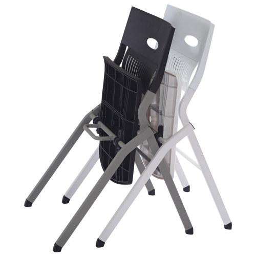 Silla de entrenamiento plegable de oficina moderna Y&F, tableta de aluminio con PP, sin reposabrazos (LY-K0-D)