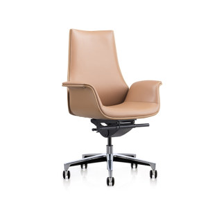 Y&F Mid-back PU Office Swivel Chair with Aluminum base (YF-625-18)