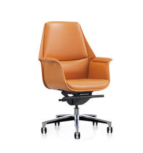 Wholesale Mid-back PU/Leather  Office Swivel Chair with Aluminum base (YF-626-18)