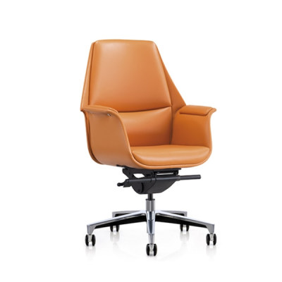 Y&F Mid-back PU Office Leather Swivel Chair with Aluminum base (YF-626-18)