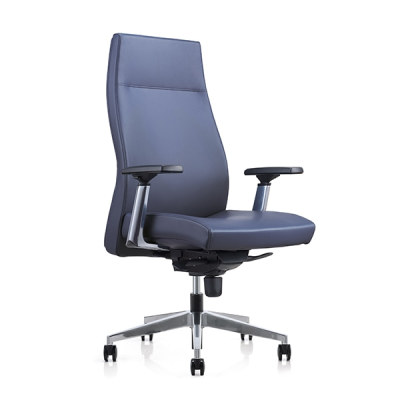 Y&F High-back PU Office Swivel Chair with Aluminum height adjustable armrest, Aluminum base (YF-820-01)