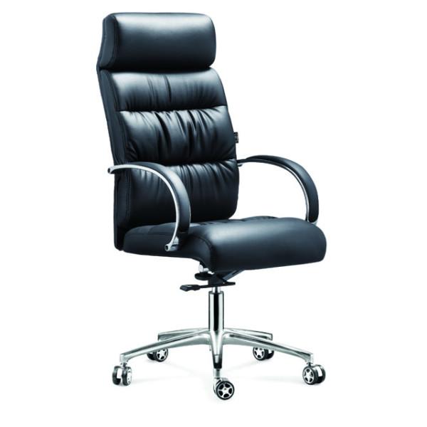 Y & F Офисный вращающийся стул с высокой спинкой, алюминиевый подлокотник, хромовое основание (YF-9332)
