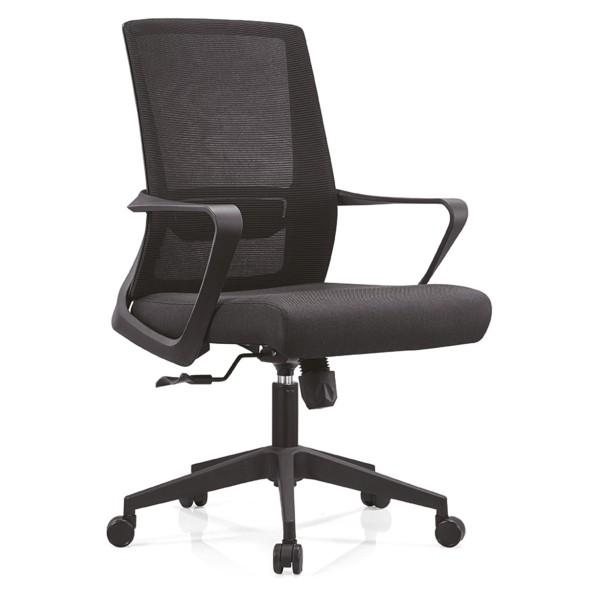 Офисное рабочее кресло Y & F со средней спинкой, доступно на нейлоновой и хромированной основе (YF-B15)