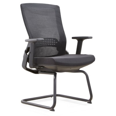 Y&F Mid-back Office Visit Chair with 50D mould sponge, metal frame and nylon armrest (YF-D35-2)