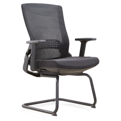 Y&F Mid-back Office Visit Chair with metal frame and nylon armrest (YF-D35-2)