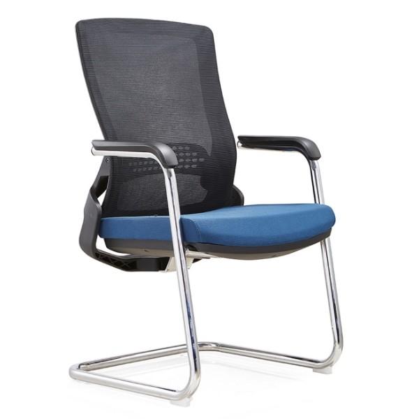 Y&F Middle Back Office Visit Chair with 50D mould sponge, Metal frame, PU armrest. (YF-C35-1)