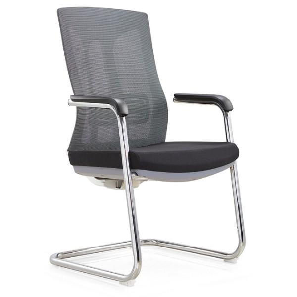 Chaise de conférence Y&F Mid-Back Office avec support lombaire, structure en métal, accoudoir en PU. (YF-C30-2)