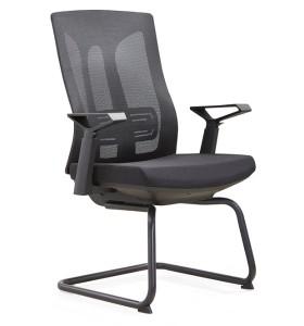 Chaise de conférence Y&F Mid-Back Office avec support lombaire, accoudoir en nylon (YF-D30-2)