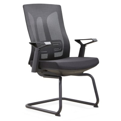 Y&F Mid-Back Office Conference Chair with Lumbar Support, Nylon Armrest.(YF-D30-2)