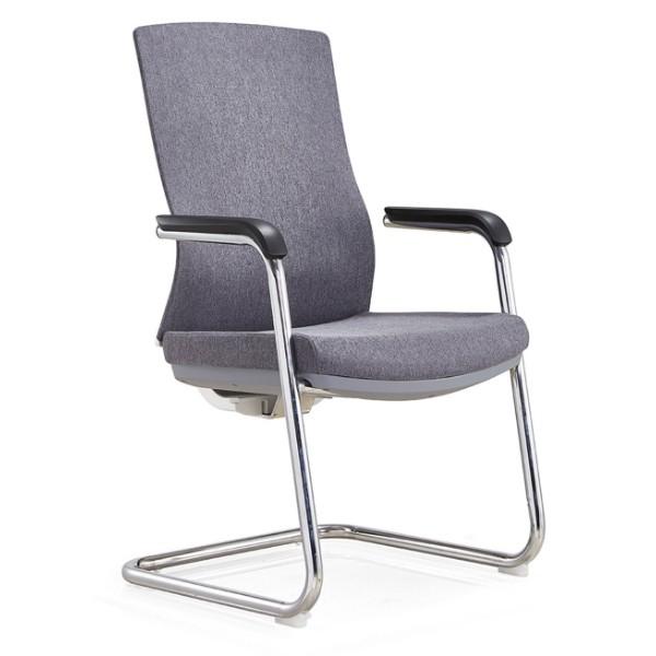 Chaise d'invité de bureau à dossier moyen Y&F avec structure en métal, accoudoir en PU souple. (YF-C30)