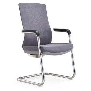 Wholesale Mid-Back Office Guest Chair with Metal frame, Soft PU Armrest.(YF-C30)