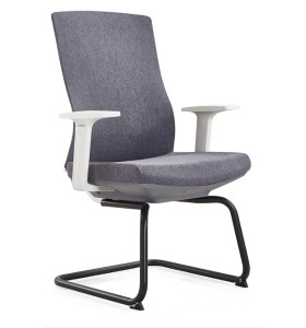 Y&F Mid-Back Office Guest Chair with PA Back Frame and Metal frame, White PP Armrest. (YF-D30)