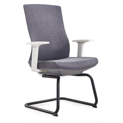 Y&F Mid-Back Office Guest Chair with PA Back Frame and  Metal frame, White PP Armrest.(YF-D30)
