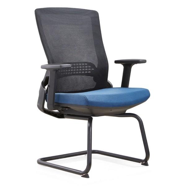 Chaise de visite Y&F Office avec éponge de moule 50D, structure métallique. (YF-D35-1)