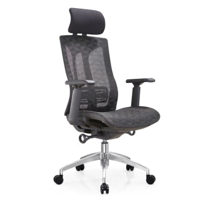Y&F High Back Mesh Executive Chair with aluminum base and 3D nylon+PU pad armrest(YF-A36)