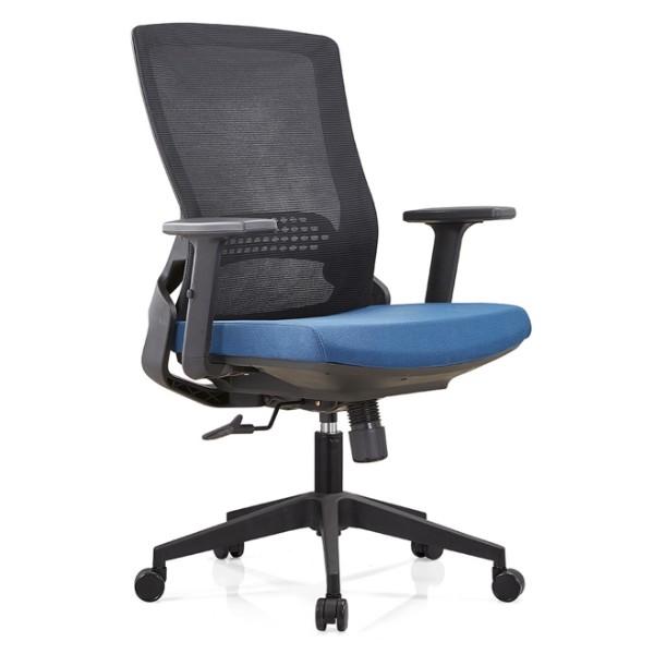 Silla Y&F High Back Mesh, silla ejecutiva con base de nylon y reposabrazos ajustable (YF-B35-2)