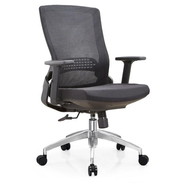 Silla Y&F High Back Mesh, silla ejecutiva con base de aluminio y reposabrazos ajustable (YF-B35-2)