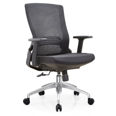 Y&F High Back Mesh Executive Chair with aluminum base and adjustable armrest (YF-B35-2)