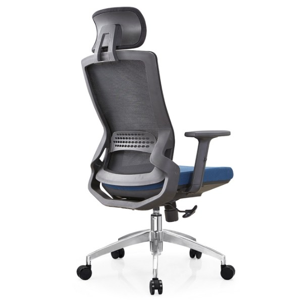 Y&F High Back Mesh Executive Chair with aluminum base and adjustable armrest and headrest (YF-A35-2)