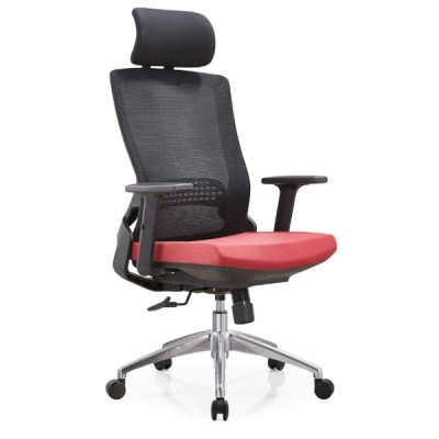 Y&F High Back Mesh Executive Chair with aluminum base and adjustable armrest and headrest(YF-A35-2)