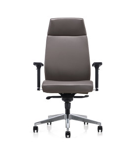 Y&F High back PU Office Swivel Chair with Plastic armrest, Aluminum base (YF-828-0884)