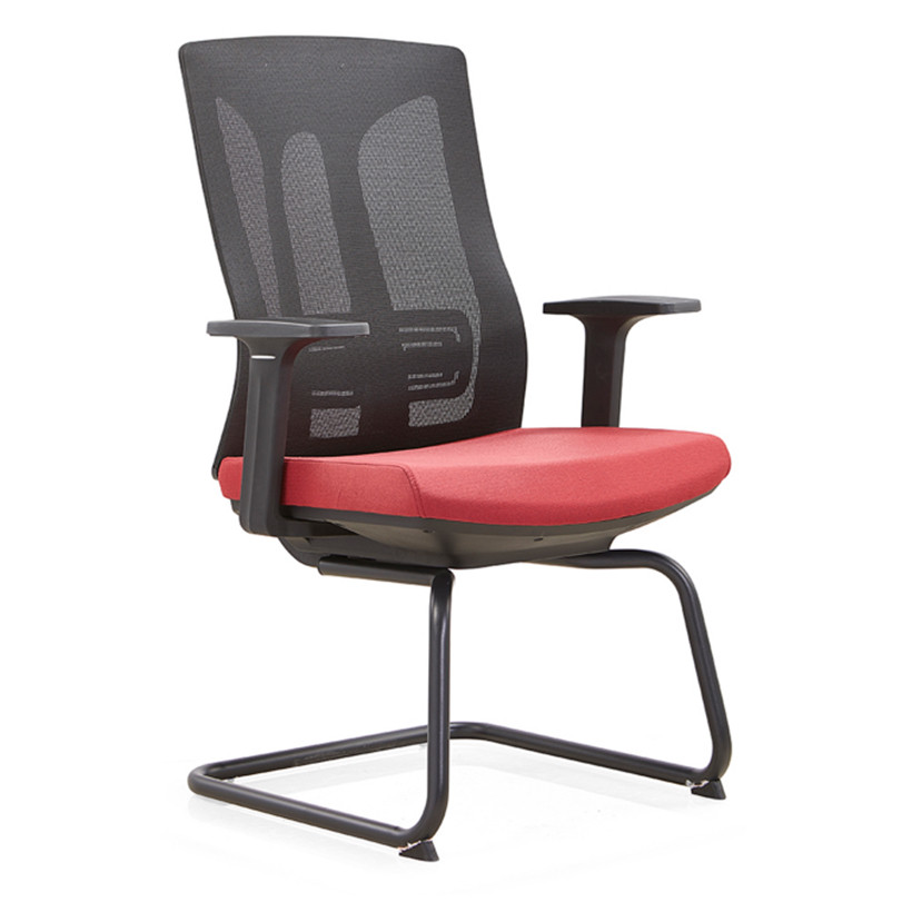 Y&F Mid-Back Office Conference Chair with Lumbar Support, Nylon Armrest. (YF-D30-1)
