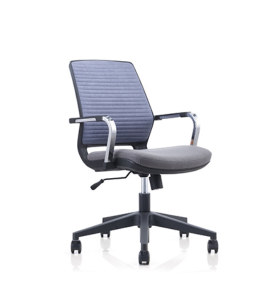 Y&F Low Back Mesh Office Task Chair with Chrome Armrest and Nylon Base(YF-6622B)