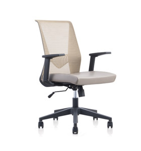 Chaise pivotante de bureau en maille à dossier moyen Y&F avec accoudoir en PP et base en nylon (YF-6630B-118)