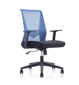 Chaise pivotante de bureau à dossier moyen Y&F avec accoudoirs en PP et base en nylon (YF-6630B-119)