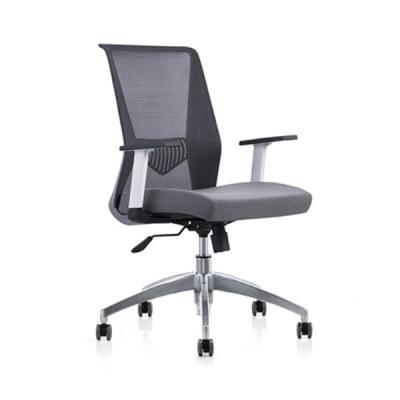 Y&F Mid Back Mesh+PU Office Swivel Chair with PP Armrest and Aluminum Base (YF-6630S-119W)