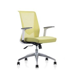 Chaise pivotante Y&F à dossier moyen en maille + PU avec accoudoir en PP et base en aluminium (YF-6630W-118W)