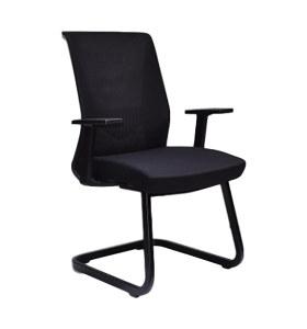 Chaise de conférence Y&F à dossier moyen avec accoudoirs en PP et structure en métal (YF-16630B-1)