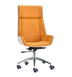 Y&F High back PU Office Swivel Chair with Plastic cover, Chrome base.(YF-D001)