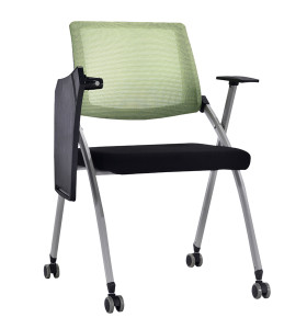Modern Office Foldable Training Chair with Writing Board, Mesh Seat And Back, Metal With Powder Coating.(YF-A-129)