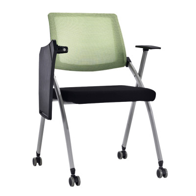 Modern Office Foldable Training Chair with Writing Board, Mesh Seat And Back, Metal With Powder Caoting.(YF-A-129)