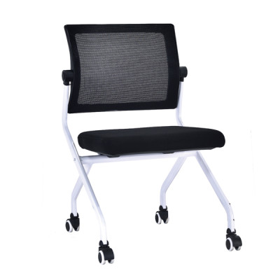 Modern Office Foldable Training Chair, Mesh Seat And Back, Metal With Powder Caoting,With Wheel(YF-A-128)