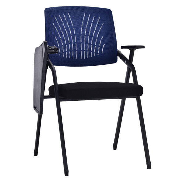 Modern Office Foldable Training Chair With Writing Board, Mesh Seat And Back, Metal With Powder Caoting.(YF-A-131)