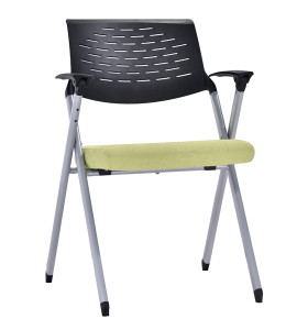 Modern Office Foldable Training Chair With Writing Board, Metal With Powder Coating, Without Wheel(YF-A-133)