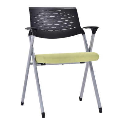 Modern Office Foldable Training Chair With Writing Board, Metal With Powder Caoting,Without Wheel(YF-A-133)
